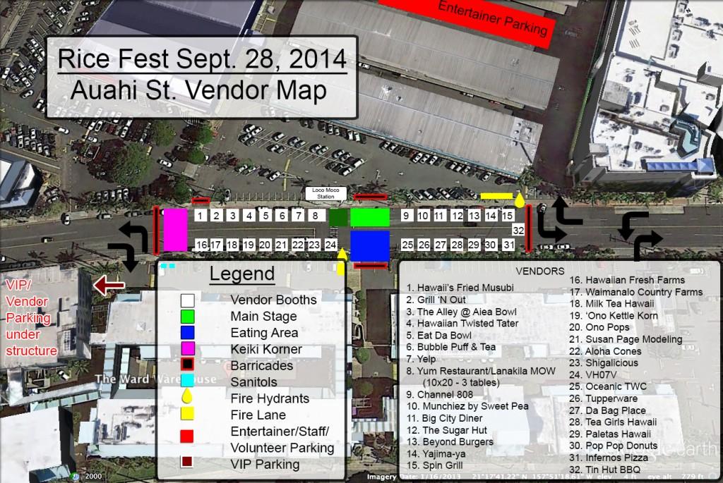 Rice Fest Vendor Map